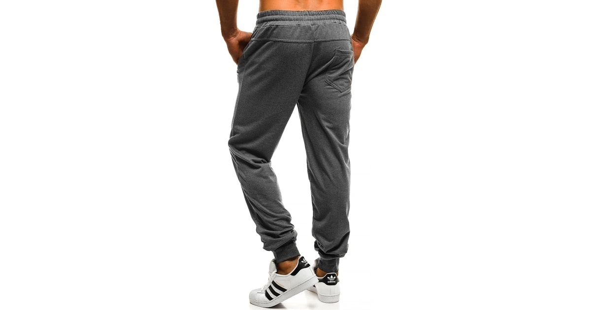 a72505c1393 Pantaloni sport obisnuiti de culoare gri OZONEE J 8088 - Pantaloni trening  - Imbracaminte de barbati - FiiStilat.ro