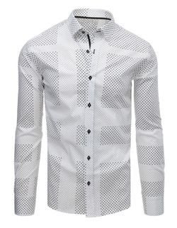 Camasa alba interesanta SLIM FIT
