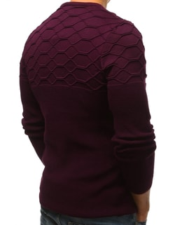 Pulover bordo cu design modern
