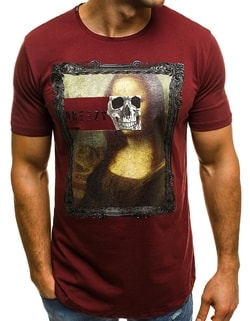Tricou cool bordo cu Mona Lisa OZONEE B/181054