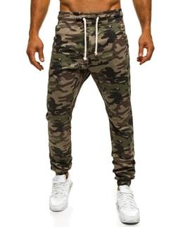 Pantaloni jogger verzi cu model militar ATHLETIC 367