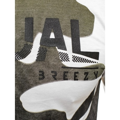 Tricou alb model militar BREEZY 171335